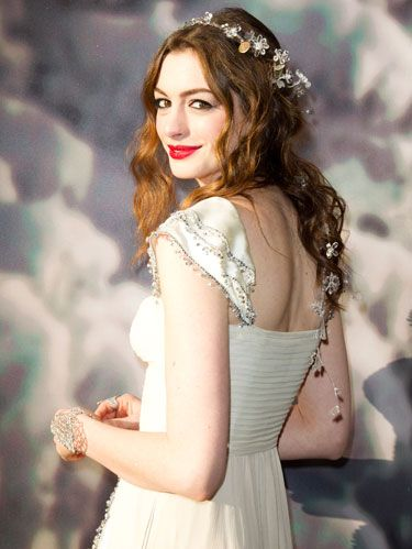Anne Hathaway at white fairy tale love ball