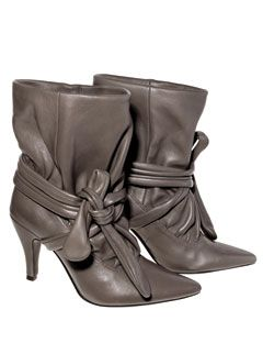 ankle tie boots