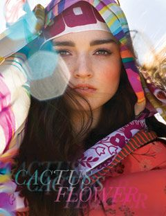 model wearing colorful scarves