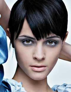 girl wearing gray eye shadow
