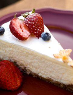 yogurt pie with strawberry on top