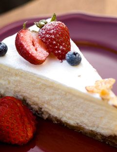 yogurt pie with strawberry on top