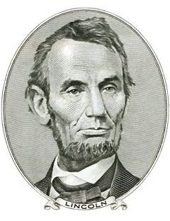 abraham lincoln illustrated in black and white