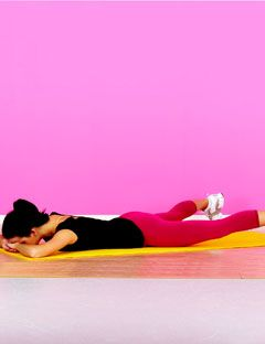woman demonstrating butt exercise