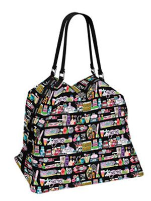 illustrated and graphic gym bag by LeSportSac