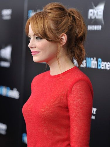 Emma Stone at the friends with benefits movie premiere