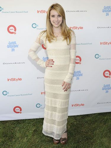 Emma Roberts at super saturday benefit