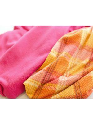 pink and orange fabric