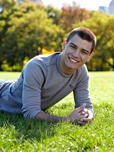 Trevor from hot guy panel lying in grass