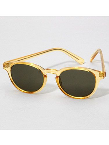 gold plastic sunglasses