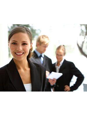 girl in business attire