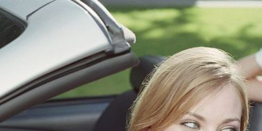 Motor vehicle, Nose, Mouth, Eye, Vehicle door, Happy, Automotive exterior, Eyelash, Blond, Long hair,