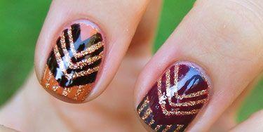 Multi-Colored Aztec Nails