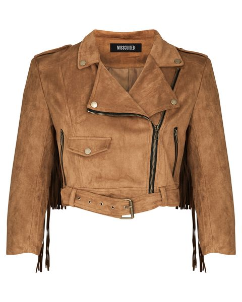 Misguided Suede Biker Jacket