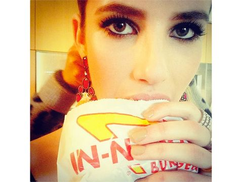 Emma Roberts's In-N-Out Burger