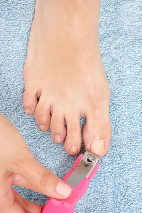clipping toe nails