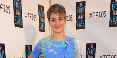 Shailene Woodley The Fault In Our Stars Miami Event Blue Abstract Dress