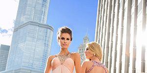 Dress, Shoulder, Photograph, Standing, Formal wear, Gown, Style, Purple, One-piece garment, Fashion,