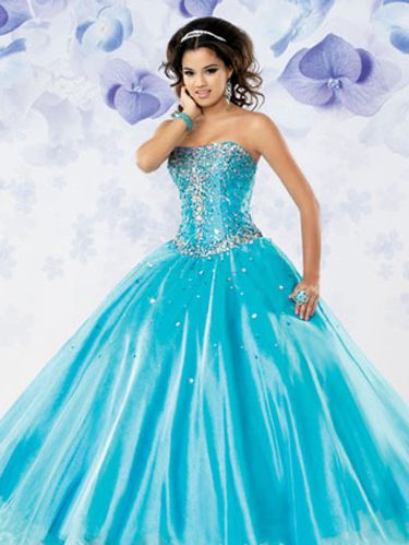 84c757fb7a image. Courtesy of Mary s Bridal. Turquoise Dress ...