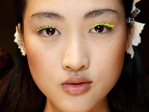 Dark Brown Eyes Electric Yellow