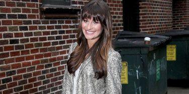 Lea Michele's metallic jacket