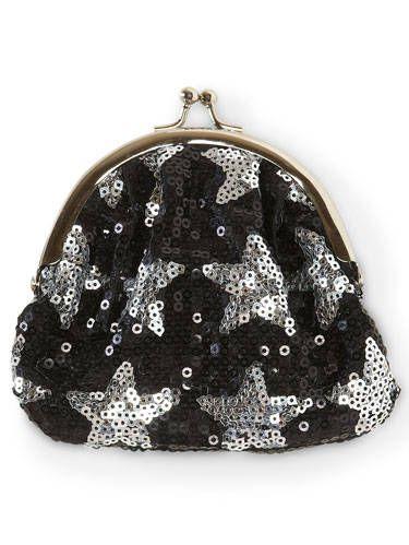 sequin star coin purse