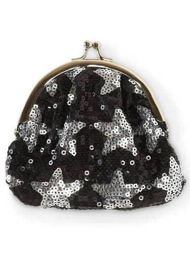 sequin star coin purse
