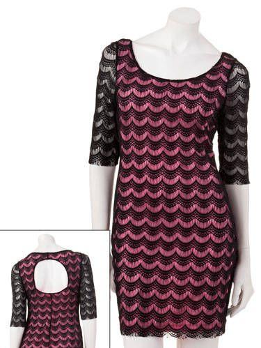 candie's black lace dress
