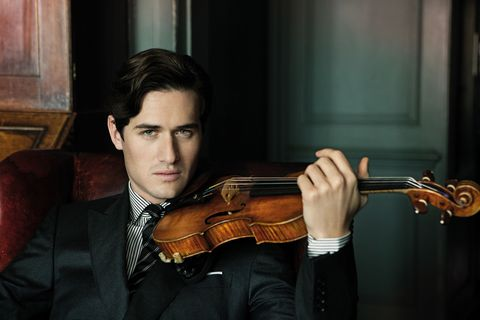 "Charlie Siem apologizes profusely for his delay in calling; he has only just arrived in Scot- land after a missed flight. Is the British violinist there for a concert? ""I'm actually going shooting with my sister's husband,"" says the Eton-educated 28-year-old, his accent sleekly posh. ""It sounds quite gentlemanly, doesn't it? Until I get out on the fields with my gun and it becomes a complete mess!"" Siem is much more adept with his violin. Known for his graceful stage presence and romantic sound, he recently toured Europe playing selections from <em>U</em><em>n</em><em>de</em><em>r</em><em> </em><em>th</em><em>e</em><em> </em><em>Sta</em><em>r</em><em>s</em>, his album of orchestral encores. ""With something like the violin, you've got to figure out a unique way of playing that suits you,"" he says. ""It's such a physical thing, and you have to really listen. Your greatest asset as a musician is your ear."" Siem happens to have other assets as well. He has modeled for Dunhill and for an upcoming Hugo Boss campaign, and he appeared in Karl Lagerfeld's book <em>Th</em><em>e</em><em> </em><em>Littl</em><em>e</em><em> </em><em>Bla</em><em>c</em><em>k</em><em> </em><em>J</em><em>a</em><em>c</em><em>k</em><em>e</em><em>t</em><em> </em>at the Kaiser's own request—so, yes, he looks quite nice onstage in his trademark fitted suit. As for life offstage, ""I guess, for me, I haven't met the right person yet,"" he says. ""I always say that if I did, I'd change my life."" Music to our ears. <strong>Rebe</strong><strong>c</strong><strong>c</strong><strong>a</strong><strong> </strong><strong>Milzoff</strong>"