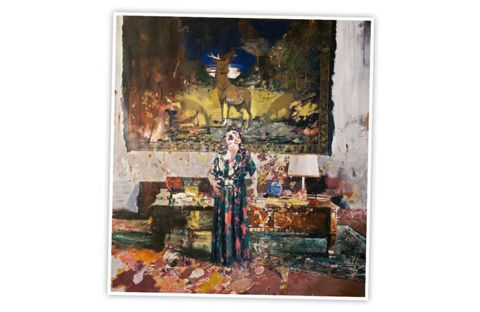 """The 35-year-old Romanian artist creates large dramatic canvases that recall Francis Bacon's signature feat: they're simultaneously painterly and psychologically disturbing. Ghenie's twist: he undercuts the scary stuff—the ghosts of Hitler, the implication of brutality—with funny samplings of art history. Pollocky drips fit into a perfect birch forest, Hirst-like dots float over what could be a murder scene. This ruse is not entirely convincing. As you suspect the Eastern European knows, horror is horror even if you call it, as he does above, """"Pie Fight Interior 8."""" Pace, 534 W. 25th Street. 212-929-7000. Through May 4."""