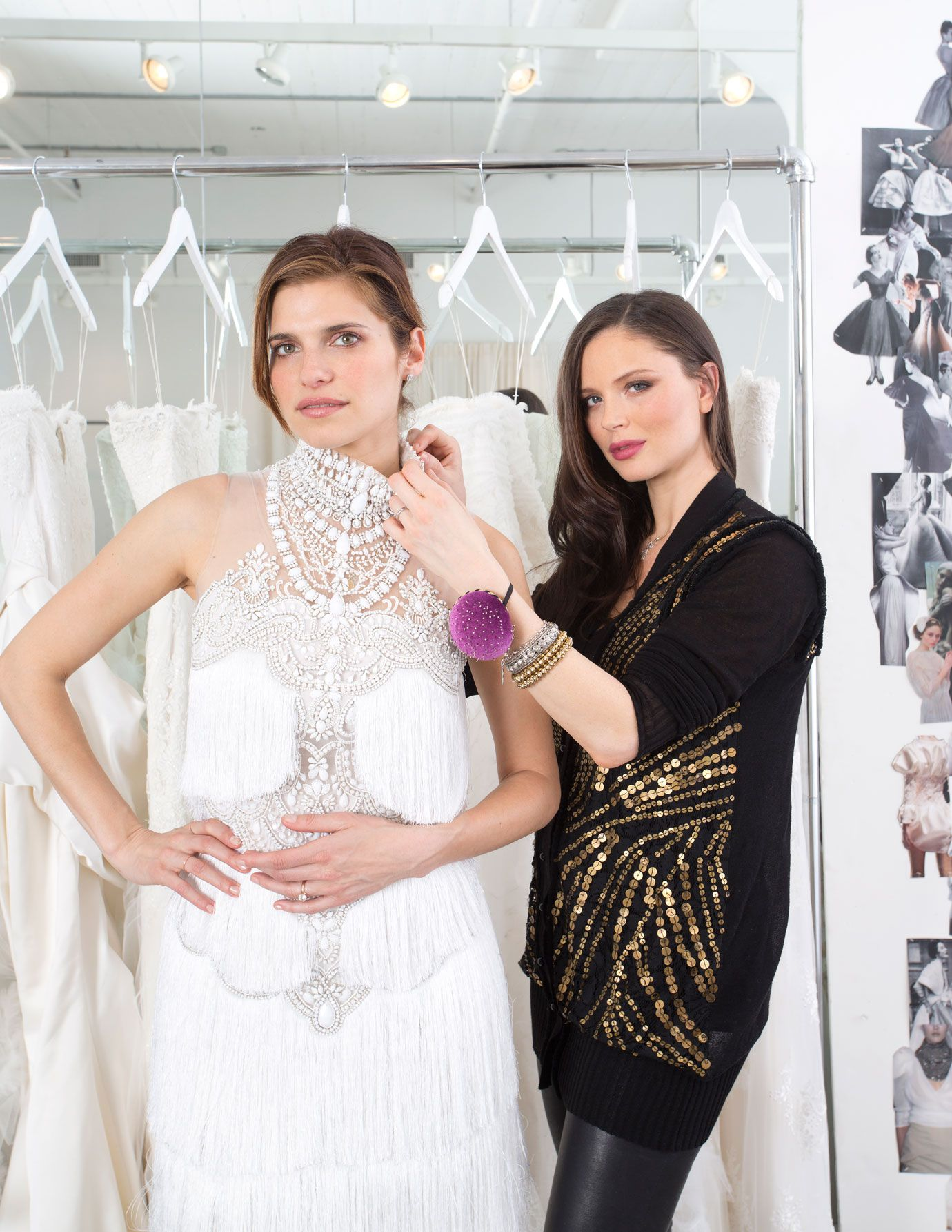 Lake Bell Wedding Teams Up With Marchesa Designer Georgina Chapman For Her Dress