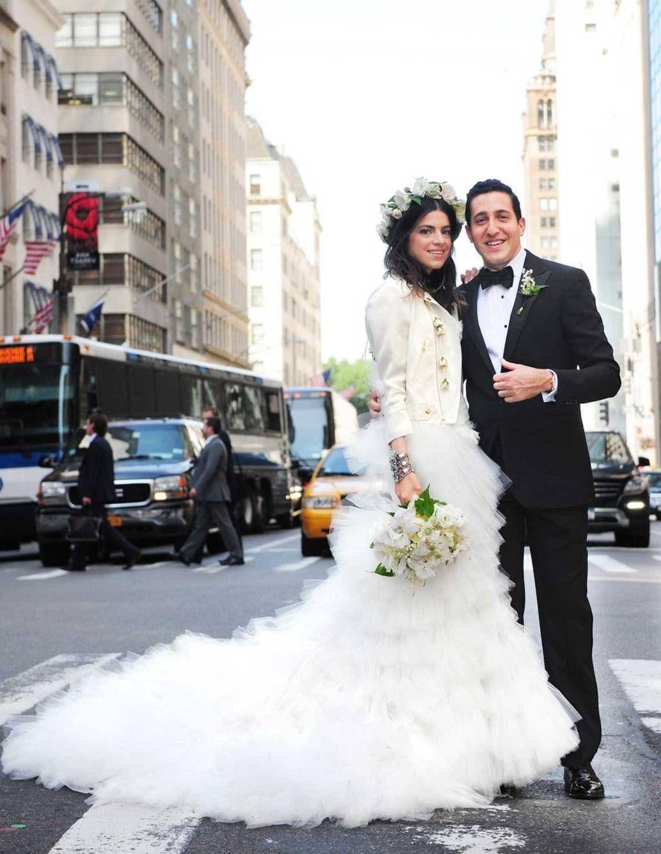 Leandra Medine Wedding Dress Man Repeller and Abie Cohen Wedding