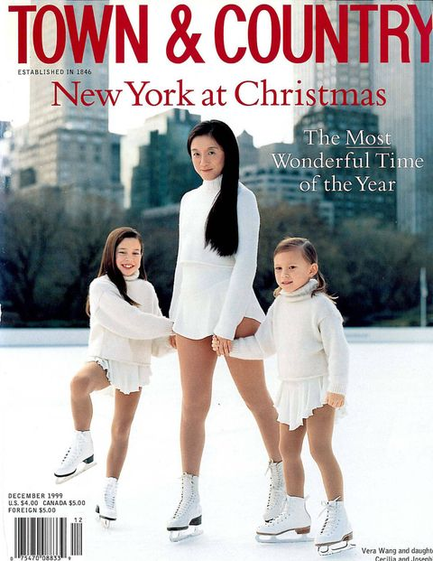 Christmas Ice Skating Dress.Vera Wang Figure Skating Vera Wang On Town Country Cover