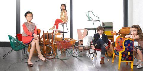 Face, Leg, Human body, Comfort, Furniture, Sitting, Chair, Dress, Lap, Coffee table,