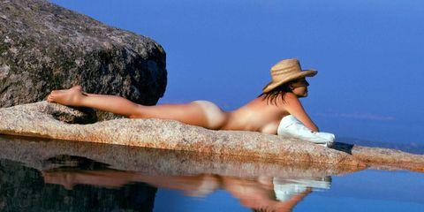 Hat, Elbow, Summer, Sun hat, Reflection, Vacation, Fashion accessory, Bedrock, Fedora, Cowboy hat,