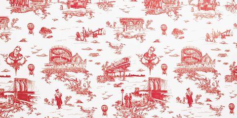Organism, Red, Pink, Pattern, Magenta, Creative arts, Illustration, Artwork, Drawing, Peach,