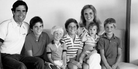 The Romney clan in a 1982 family photo.