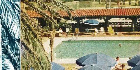 Photographed by longtime T&C photographer Slim Aarons for the January 1961 issue.
