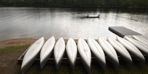 Campers take out canoes for two- to five-day trips.