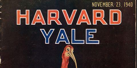Vintage Harvard-Yale Game Program