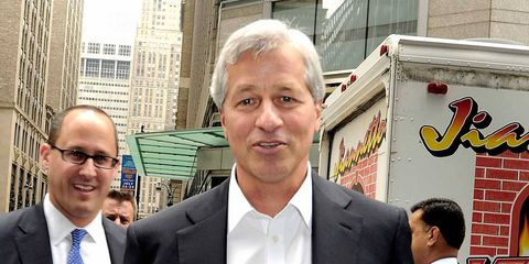 """Titan of finance Jamie Dimon doesn't skimp when it comes to security. Dimon, the CEO of JPMorgan Chase, called the scandal that engulfed his bank in 2011 """"a tempest in a teapot."""" He later faced down protesters shouting, """"This man is a crook!"""" from behind a wall of security guards."""