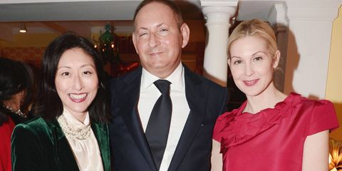 Adelina Wong Ettelson, John Demsey, and Kelly Rutherford at the annual party, which took place this year on March 7, celebrating the sign of the zodiac.