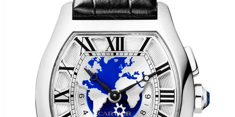 Today brings us Cartier's Tortue World-Timer, which simplifies a complex dial with a unique side window showing time in cities around the world.$46,200, Cartier.