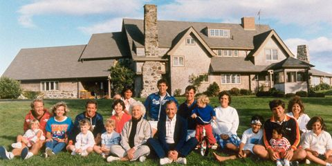 An American political dynasty to rival the Adamses and Kennedys, the Bush family has been an inescapable fact of American life since the early 1950s. It has produced a senator, two governors, and, most notably, two presidents, not to mention several members of Skull & Bones and two wars with Iraq. The clan also, for a time, threw its cap into the sports ring, when George W. Bush bought a share of the Texas Rangers baseball team, and has made a mark in fashion via Lauren Bush, a successful model and designer who married Ralph Lauren's son David. The saga continues: George P. Bush, son of former Florida governor Jeb Bush, recently launched his own political career, in Texas.The Bush clan, photographed at their summer compound in Kennebunkport, Maine, 1986.