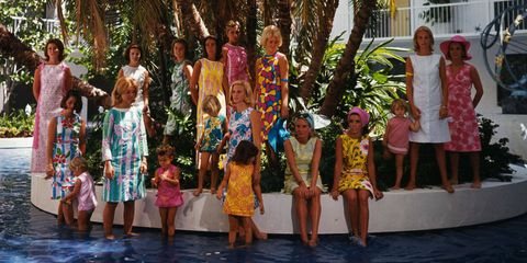 """Palm Beach, 1964.  """"Life is a party. Dress like it."""" -Lilly Pulitzer"""