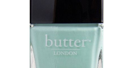 """<p>Fiver is a sweet relative of the turquoise shades that have been so popular the past few years. On nails, the pale blue-green hue looks a bit like mint chip ice cream, minus the chocolate.</p>   <p><em>$15, <a href=""""http://www.butterlondon.com/fiver-nail-lacquer"""" target=""""_blank"""">butterlondon.com</a></em></p>"""