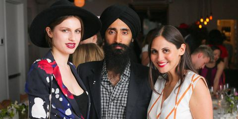 A few Gummers, one Hemingway, a Chaplin and other notables and their descendants came together at Haven's Kitchen for the relaunch of the online community ASMALLWORLD, which was founded in 2004 as an invitation-only social network. CEO and president, Sabine Heller, Waris Ahluwalia, and Tali Lennox co-hosted the event for 80 members of the lifestyle and travel club. Each of the tables at the dinner was named after a continent—even Antarctica!—and all were encouraged to share their favorite travel memories on their place cards, all postcards from farflung locales. After five courses, guests had to pop a balloon to gain access to dessert, an unusual twist that served as a fairly loud and celebratory reminder of one of ASW's guiding principles: global access. After a performance by Joshua Bell and a short film starring Waris Ahluwalia, the party ended with the unveiling of the new membership cards. Chocolate versions were distributed to satisfy cardholders until the real ones arrive in the mail.