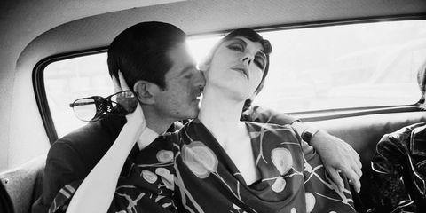 Irving Blum and Peggy Moffitt, 1964