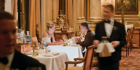 """Forty years ago, this was a common scenario at the world's most refined restaurants: A couple goes out to dinner, and the waiter gives the man, presumed host and breadwinner, a menu with prices, while the woman gets one without. The tradition of menus without prices, also called blind or guest menus, persists today, but more as a quirky vestige of a bygone era—restaurants have had to adapt to modern social mores without making presumptions that offend the customer. Here, we have compiled a short list of some of the best restaurants around the world that continue to offer blind menus—much to the delight, surprise, and confusion of their customers.This Parisian standby preserves a longstanding practice of offering menus without prices. """"This is an old tradition in France in elegant gastronomic restaurants,"""" Caroline Mennetrier, senior director of public relations for the hotel, says. The restaurant has even watched the menus play a part in marriage proposals, as nervous fiancés-to-be sweat through elaborate meals, including pink champagne, caviar, and truffles, ordered off the priceless menu by unsuspecting girlfriends."""