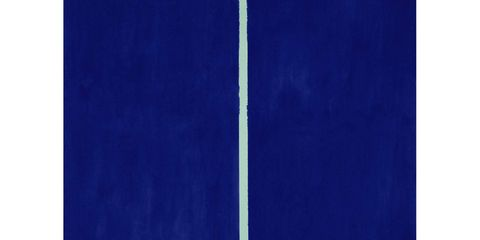 Barnett Newman is an outlier. Nominally an Abstract Expressionist (although he destroyed any canvases that betrayed emotive brushwork), embraced by the Color Field critics (although he makes the rest of the gang look like fusspots), Newman's impact wasn't really felt until a generation later—in the days of Frank Stella and Carl Andre and Dan Flavin, by which point Newman was regarded as a relic. This zip painting, (created by ripping off the masking tape on an otherwise finished canvas to reveal the zip of original color beneath) is likely to appeal to a Howard Roark type who has just the spot for a stark, vast, sublime, ten-foot canvas from the artist's heyday. Sotheby's Contemporary Art, evening sale, 7 pm, May 14.Lot 17, Onement VI, Barnett Newman (1905-1970); estimate $30,000,000-$40,000,000.(Sold for $43.8 million, to a telephone bidder speaking Italian, leading the New York Times to speculate that it was Miuccia Prada.)
